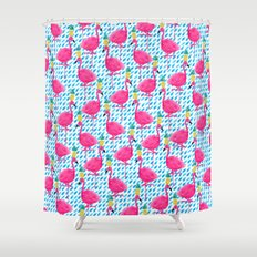 Party Flamingos Shower Curtain