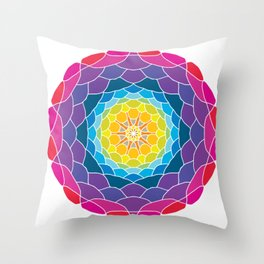 floral ornament. circular pattern Throw Pillow
