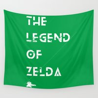 the legend of zelda Wall Tapestries featuring The Legend of Zelda by Slippytee Clothing