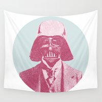 darth Wall Tapestries featuring Darth Vader by Les petites illustrations