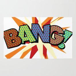 Comic Book Pop Art Sans BANG! Rug