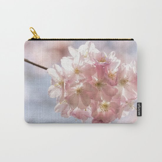 Branch of Cherryblossoms - Pink flowers on #Society6 Carry-All Pouch