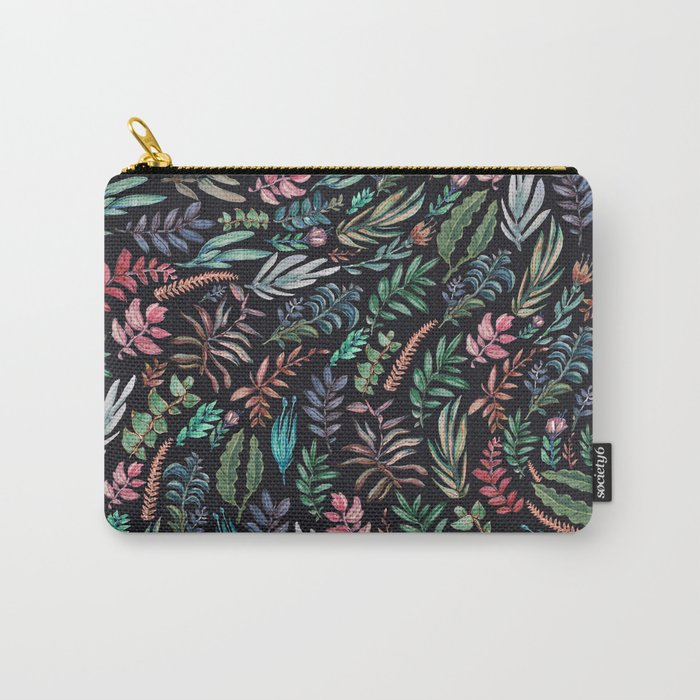water color run leaves Carry-All Pouch