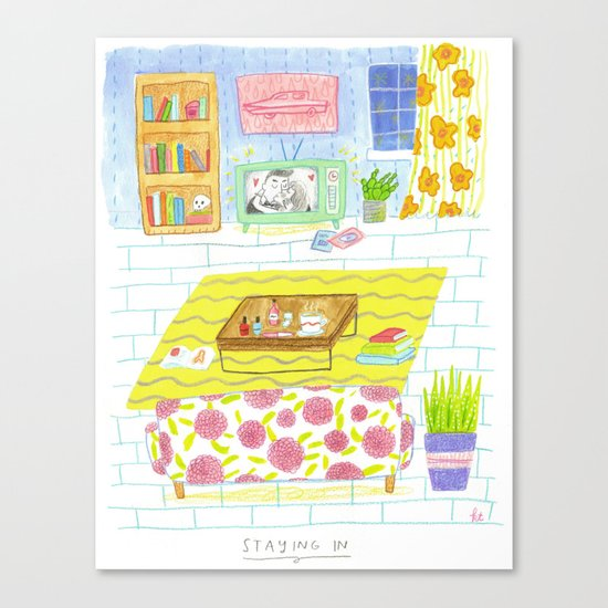 Staying In Canvas Print