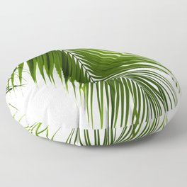 Palm Leaves Green Vibes #10 #tropical #decor #art #society6 Floor Pillow