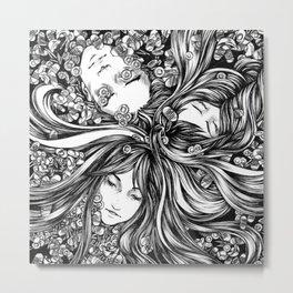 Drowning Metal Print