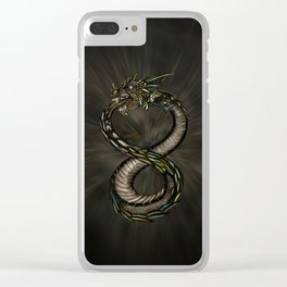 Ouroboros - Infinity Dragon Clear iPhone Case