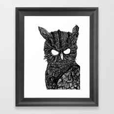 Demon Owl Framed Art Print