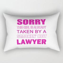 TAKEN BY A LAWYER Rectangular Pillow