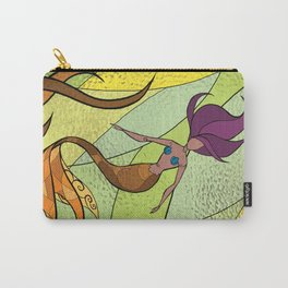 Stain Glass Mermaid (Golden) Carry-All Pouch