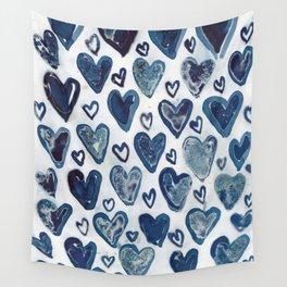 Hearts aplenty. Wall Tapestry