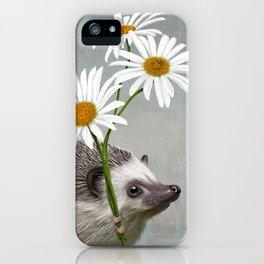 Hedgehog in love iPhone Case