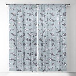 MANTA PATTERN (LIGHT BLUE) Sheer Curtain