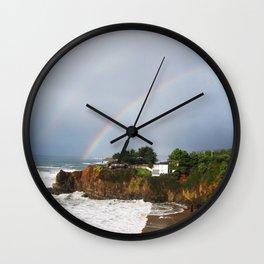 Rainbow in Mendocino County Wall Clock