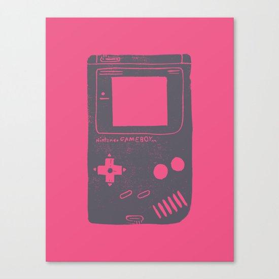 Game Boy on pink Canvas Print