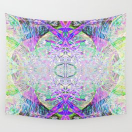 Crystal Dimension Codes Wall Tapestry