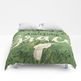 Amazing Grace (green) Comforters