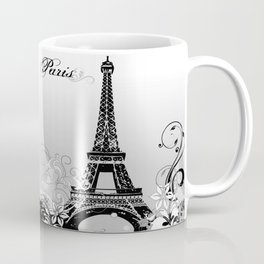 Eiffel Tower Paris (B/W) Coffee Mug