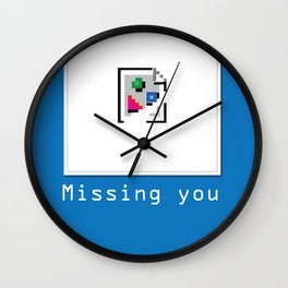 Talk Nerdy to me - Missing you Wall Clock