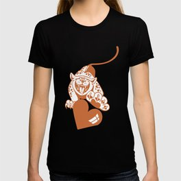 Valentine Leopard with Heart T-shirt