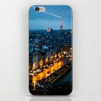 paris iPhone & iPod Skins featuring Paris by Luca Spanu