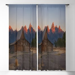 Moulton Barn - Sunrise in Grand Tetons Blackout Curtain