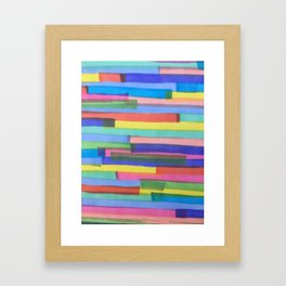 Happy Stripes Framed Art Print