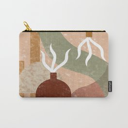 Minimal Terracotta Carry-All Pouch