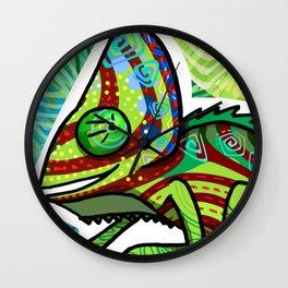 Chamaleon Pattern Wall Clock