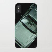 delorean iPhone & iPod Cases featuring DeLorean DMC-12 by Matthew Clark
