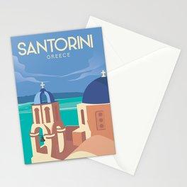 OMA-44  Santorini Greece  travel poster Stationery Cards