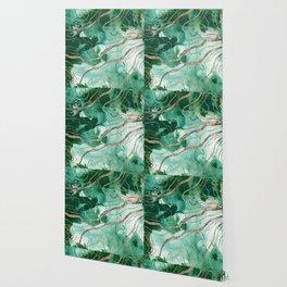 Liquid Marble Glitter Glam #1 (Faux Glitter) #decor #art #society6 Wallpaper