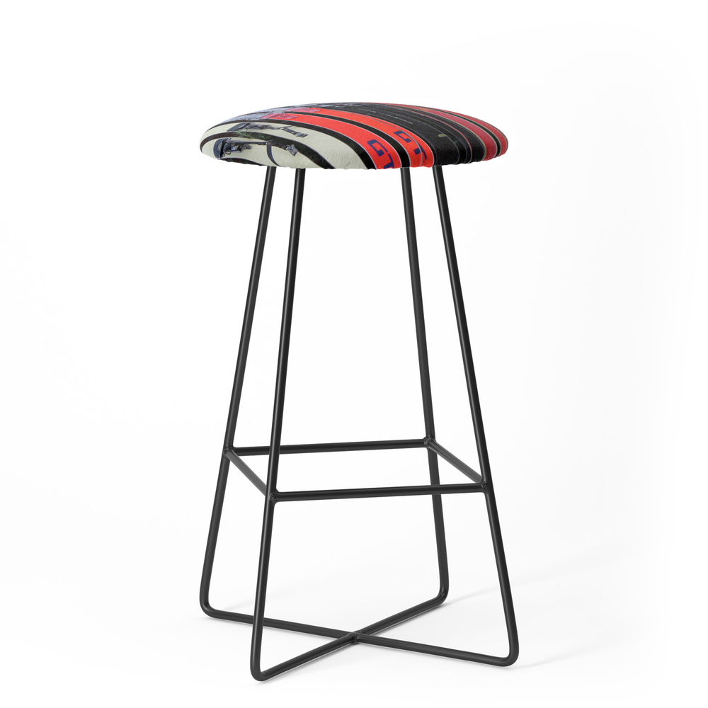 Skis With Bindings Bar Stool by backtobasics