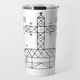 Baron Samedi Voodoo Veve Symbol Travel Mug