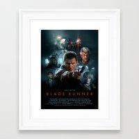 blade runner Framed Art Prints featuring Blade Runner by Brian Taylor