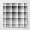 Monochrome Black & White Houndstooth by textures