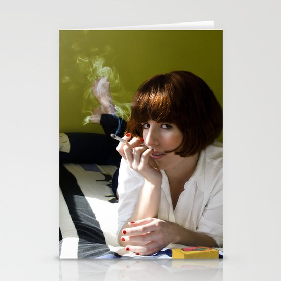 Mia, Pulp Fiction Stationery Cards