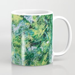 """Nature"" Abstract art in green Coffee Mug"