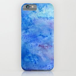 Mariana Trench Watercolor Texture iPhone Case