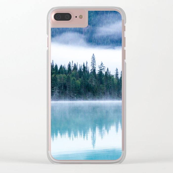 Blue nature #reflection Clear iPhone Case