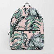 Island Love Coral Pink + Green Backpacks