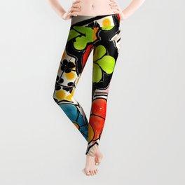 Beautiful Red and Green Talavera Leggings