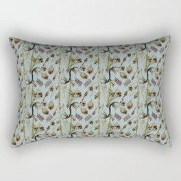 Dead Rose & Snapdragon Pattern Rectangular Pillow