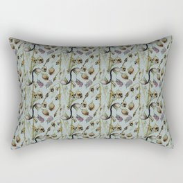 Dead Rose & Snapdragon Pattern Rectangular Pillow