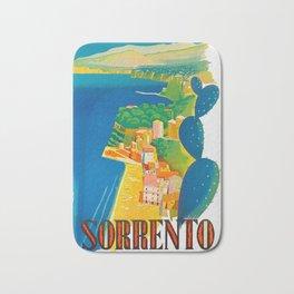 Sorrento Italy ~ Vintage Travel Poster Bath Mat
