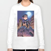 nightwing Long Sleeve T-shirts featuring Lil' Nightwing by J Skipper
