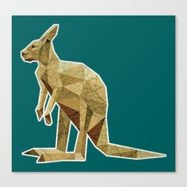 Kangaroo Lowpoly Canvas Print