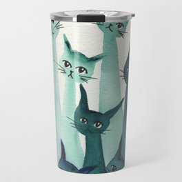 Knoxville Whimsical Cats Travel Mug
