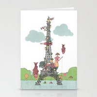 eiffel tower Stationery Cards featuring Eiffel Tower by ShangheeShin