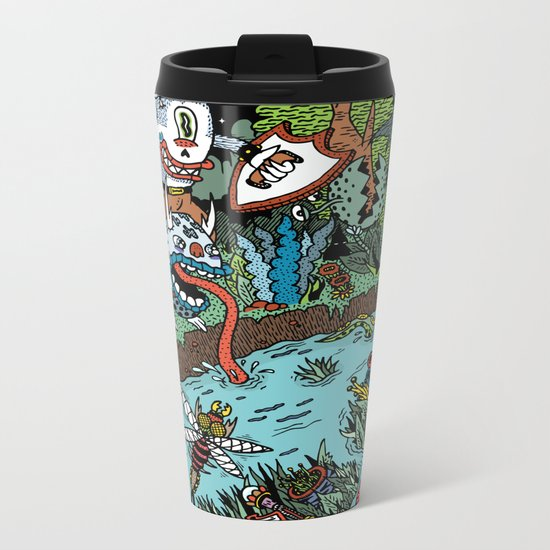Some of us were born to explore!  Metal Travel Mug